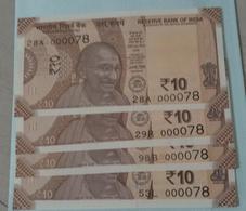 000078  X 4....inde India.. UNC..four Notes - Inde