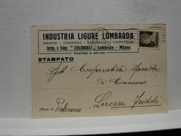 MILANO  --  LAMBRATE  --  INDUSTRIA LIGURE LOMBARDA - Italia
