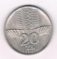 20 ZLOTY 1973 POLEN /5615/ - Poland