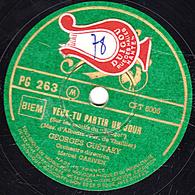 Disque Pathé 78 Tours  PG 263  - état TB -  Georges GUETARY -  VEUX-TU PARTIR UN JOUR - VALSE DES REGRETS - 78 Rpm - Gramophone Records