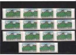 (K 4229) Tschechische Republik, 14 Automatenmarken Nr.1, 174,20 Kc - Ungebraucht