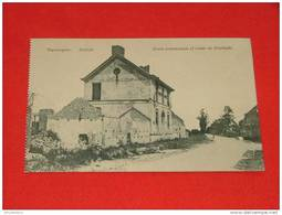 Lo-Reninge -  Reninghe -  Ecole Communale Et Route De Dixmude  -   ( 2 Scans )) - Lo-Reninge