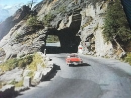 AUTO CAR  Sportiva ROSSA SIMPLONPASS STRASSE BRIG ISELLE SVIZZERA - Turismo