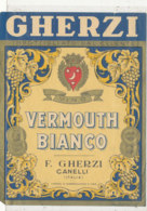 AN 529 / ETIQUETTE    GHERZI  VERMOUTH BIANCO   CANELLI  ITALIE - Labels