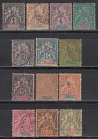 1892   Yvert Nº 27 / 39 - Guadalupe (1884-1947)