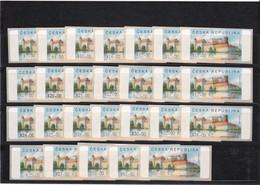 (K 4231) Tschechische Republik, 26 Automatenmarken Nr.3, 620,50 Kc - Unused Stamps