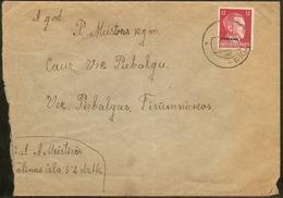 Lettland Riga 22.XI.42, Aptierter Sowjetischer Stempel Der Deutscher Besatzung, Auf Brief Mit 12 Pf Ostland, - Lettonie