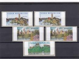 (K 4231) Tschechische Republik, Lot Von 5 Automatenmarken, 48,40 Kc - Ungebraucht