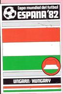 Sticker - ESPANA 1982 - Voetbal - Hungary - Hongarije - Copa Mundial Del Futbal - Autocollants