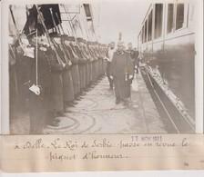 A DELLE LE ROI DE SERBIE LE PIQUET D'HONNEUR Pierre Ier Serbie Belgrade 18*13CM Maurice-Louis BRANGER PARÍS (1874-1950) - Célébrités