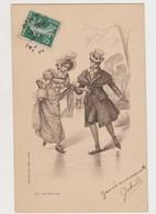 Carte Fantaisie Dessinée /Le Patinage - Paare