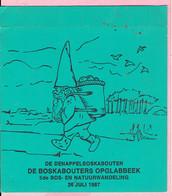 Sticker - De Denappelboskabouter - De Boskabouters Opglabbeek - 5 De Bos- En Natuurwandeling 1987 - Autocollants