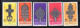 ETP204 - ETIOPIA 1967 ,  Serie Yvert  N. 497/501  ***  MNH  Lalibela - Etiopia
