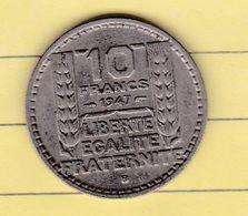"""Monnaies & Billets > Monnaies > France > """"10 Francs Turin"""" 1947> Coin Tourné (13) - France"""
