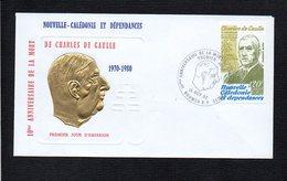 Nouvelle Calédonie / 1980 1er Jour / 10° Ann De La Mort De Charles De Gaulle  / Cachet Nouméa R.P. - De Gaulle (Général)