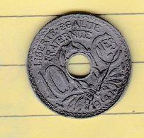 """Monnaies & Billets > Monnaies > France > """"10 Centimes Zing Lindauer"""" 1941> Flan Fendu  (11) - France"""