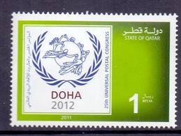 2011 Qatar Universal Postal Union 1 Values MNH - Qatar