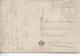 3242/ CP Fantaisie En Franchise Krijgsdienst (service De Guerre) C.Brugge (3) 4/12/18 > De Panne H.M.R Ocean Britisch - Postmark Collection