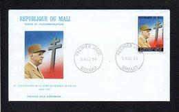 République Du Mali / 1980 1er Jour / 10° Ann De La Mort De Charles De Gaulle  / Cachet Bamako - De Gaulle (Général)