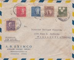 1942 SWEDEN COMMERCIAL COVER-A-B EXIMCO. CIRCULEE TO URUGUAY - BLEUP - Suède