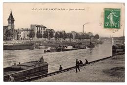 CPA - Ile Saint-Denis, Quai De Seine - L'Ile Saint Denis