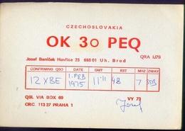Radio - Czechoslovakia - Ok 3o Peq - Praha - Radio Amatoriale