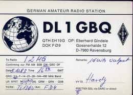 Radio - German Amateur Radio Station Dl1gbq - Ravcensburg - Radio Amatoriale
