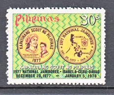 Filippine Philippines Philippinen Pilipinas 1977 National Boy Scout Jamboree, 30s Singles - MNH ** (see Photo) - Filippine