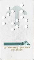 Wyndham El San Juan Hotel & Casino - San Juan Puerto Rico - Small Hard Plastic Punched Hotel Room Key Card - Hotel Keycards