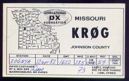 Radio - Missouri - Krog - Warrensburg - Radio Amatoriale