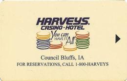 Harveys Casino - Council Bluffs IA - Hotel Room Key Card - Hotel Keycards