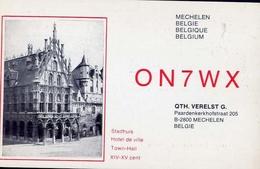 Radio - On7wx - Hotel De Ville - Mechelen - Belgie - Radio Amatoriale