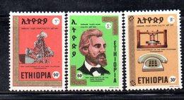 ETP278 - ETIOPIA 1976 , Yvert N. 773/775 *** MNH TELEFONO - Etiopia