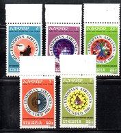 ETP279 - ETIOPIA 1976 , Yvert N. 794/798 *** MNH AIRLINES - Ethiopia