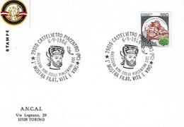 ITALIA - 1986 CASTELVETRO PIACENTINO (PC) 1^ Mostra Vini Colli Piacentini - Vaso Greco Raffigurante Dioniso E Un Satiro - Vini E Alcolici