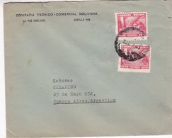1947 BOLIVIA COMMERCIAL COVER-COMPAÑIA TECNICO COMERCIAL BOLIVIANA. CIRCULEE TO ARGENTINE - BLEUP - Bolivie