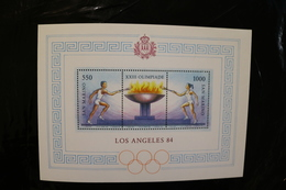San Marino Los Angeles Olympic Games 84 Lighting Flame Souvenir Sheet Block MNH 1984 A04s - Blocks & Sheetlets