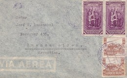 1943 BOLIVIA AIRMAIL COVER. CIRCULEE TO ARGENTINE. BANDELETA PARLANTE - BLEUP - Bolivie