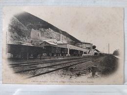 Cruas. Carrières Et Fours à Chaux. Usine Henry Freydier. Train - Autres Communes