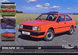 Voitures Tczech  -  SKODA RAPID 130   -  1986   -  CPM - Voitures De Tourisme