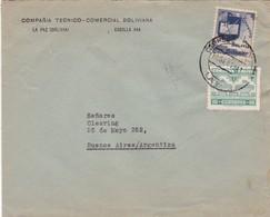 1941 BOLIVIA COMMERCIAL COVER-COMPAÑIA TECNICO COMERCIAL BOLIVIANA. CIRCULEE TO ARGENTINE- BLEUP - Bolivie