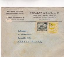 1940'S BOLIVIA COMMERCIAL COVER-MAESTRANZA AMERICANA FABRICA DE JABONES PATRIA. CIRCULEE TO ARGENTINE- BLEUP - Bolivie
