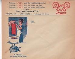 1940'S URUGUAY COMMERCIAL COVER-OMO, LA MERCANTIL. MONTEVIDEO- BLEUP - Uruguay