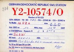 Radio - German Democratic Repubblic Swl Station - Y2 10574-o - Berlin - Radio Amatoriale