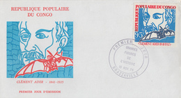 Enveloppe  FDC  1er  Jour   CONGO     Clément   ADER     1975 - FDC