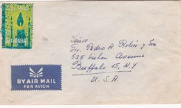 1960'S PARAGUAY COVER. CIRCULEE TO USA, MIXED STAMPS, CINDERELLA SHINING CHRISMAS THEME- BLEUP - Paraguay