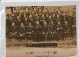 DI/1/     BEVERLOO KAMP REGIMENT GRENADIERS  1888  20/27 CM - Guerre, Militaire
