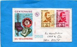 MARCOPHILIE-Lettre  -Congo>France Cad- Brazza CT M-.1980-2 -stamps-N°416+PA226 G-BELL-Téléphone - Autres