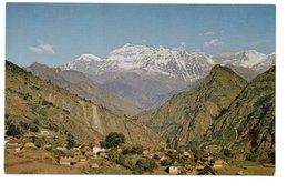 4. MOUNTAIN VILLAGE AND DHAULAGIRI RANGE. WEST NEPAL. - Nepal