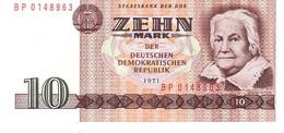 East Germany P.28 10 Mark 1871 Aunc - [ 6] 1949-1990: DDR - Duitse Dem. Rep.